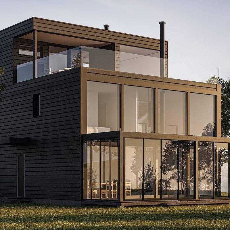 Constructeur de maison moderne en bois massif en Alsace et Lorraine  1
