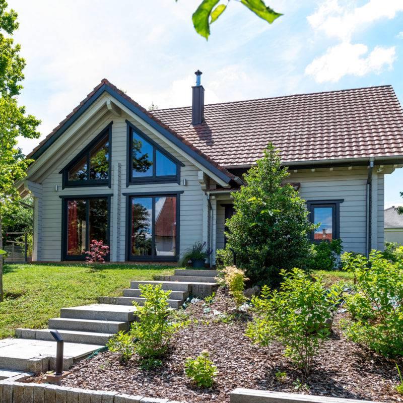 Constructeur de maisons en bois massif finlandaises en Alsace  3